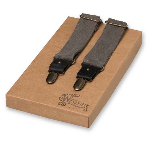 Wiseguy Suspenders - The Duck Grijs (1)